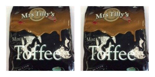 Bundle of 4 Mrs Tilly's Scottish Mint Toffee All Butter 150g Bags Delivers 3-5 Days USA