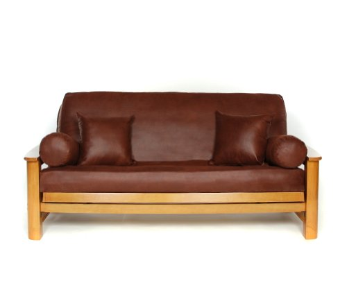 (Lifestyle Covers Faux Hide Leathery Suede Futon Cover, Full)