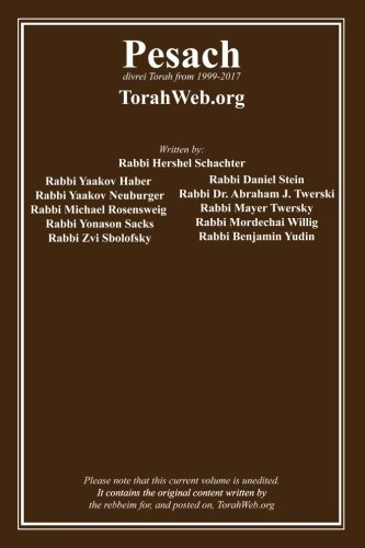 Pesach: TorahWeb.org