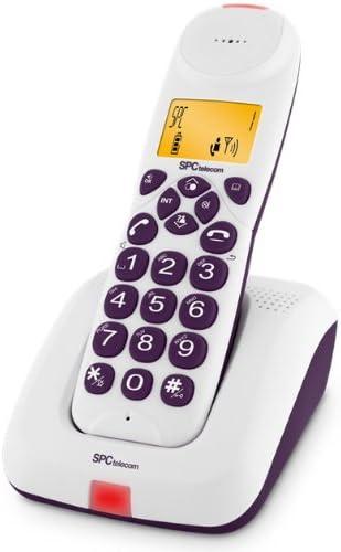 SPC Telecom 7123J - Teléfono fijo inalámbrico digital, color berenjena: Amazon.es: Electrónica