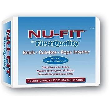 NU-Fit Adult Brief Large - Case of 72