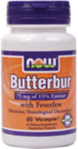 NOW Foods Butterbur with Feverfew, 60 Capsules, Health Care Stuffs