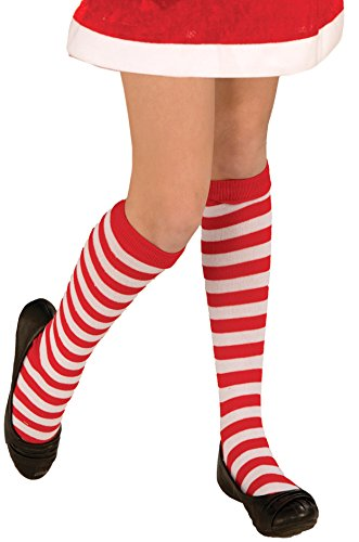 [Forum Novelties Novelty Candy Cane Striped Child Christmas Socks] (White Cat Costume For Women)