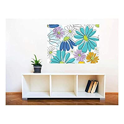 Grand Picture, Removable Wall Sticker Wall Mural Seamless Floral Pattern Creative Window View Wall Decor, With a Professional Touch