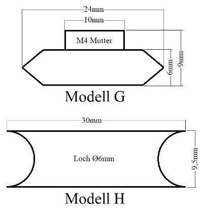 Model C Schiebet/ür Laufrolle in 9 Ausf/ührungen