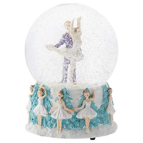 Elanze Designs Prince and Clara Dancing 100MM Musical Water Globe Plays Tune Nutcracker (100 Mm Water Globe)