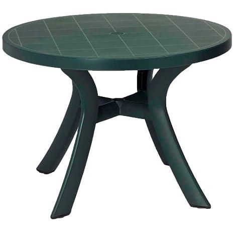 Nnardi Toscana Table de jardin ronde en résine Vert forêt ...
