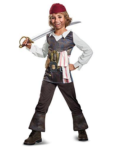 Disney POTC5 Captain Jack Sparrow Classic Costume,  Multicolor,  Medium (7-8) -