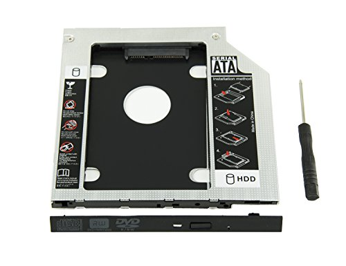 Highfine Universal 9.5mm SATA to SATA 2nd SSD HDD Hard Drive Caddy Adapter Tray Enclosures for DELL HP Lenovo ThinkPad ACER Gateway ASUS Sony Samsung MSI -