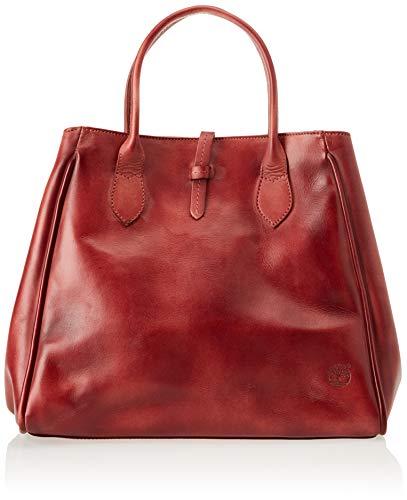Mujer Timberland Pelle mano Rojo Bolsos de Winetasting Borsa Shopping In 7fq1H