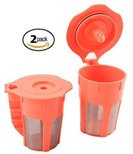 STK Carafes 2 Count Refillable Filters for Keurig 2.0 K350 K550 K250 K450 K300 K500 K400 K460 K560 Brewers By Sterlingtek