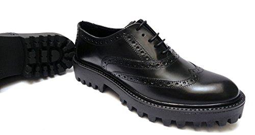 scarpe Donna ANTICA CUOIERIA da francesine in pelle col. fondo gomma pesante