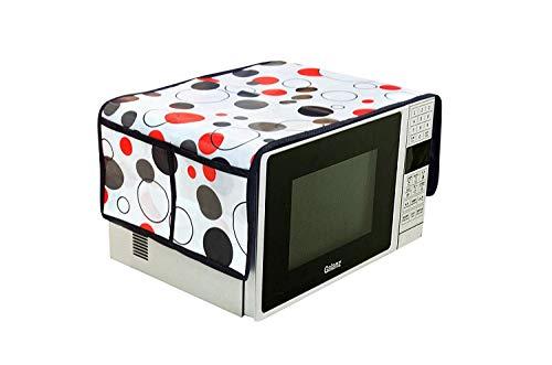 Amazin Homes PVC Printed Microwave Oven Half Closure Cover for 20 Litre(Multicolor)
