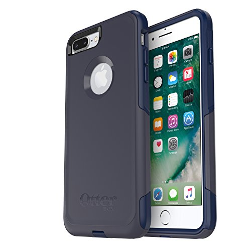 OtterBox Commuter Series Case for iPhone 8 Plus & iPhone 7 Plus (ONLY) - Frustrations Free Packaging - Indigo Way (Maritime Blue/Admiral Blue)