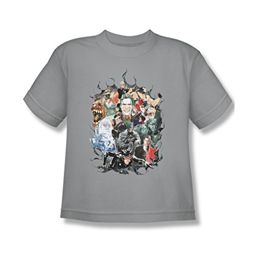 Batman - Youth Cape Of Villians T-Shirt In Silver, X-Large, Silver -