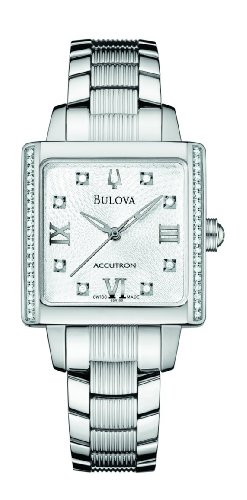 Accutron Women Stainless Steel Diamond Watch - 2