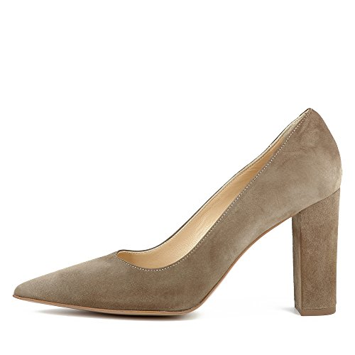 Evita Shoes Natalia Damen Pumps Rauleder Braun