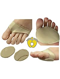 HappyFeet Premium Ball of Foot Metatarsal Cushions - Forefoot, Arthritis, Tendonitis, Diabetic Foot Pain (Large)
