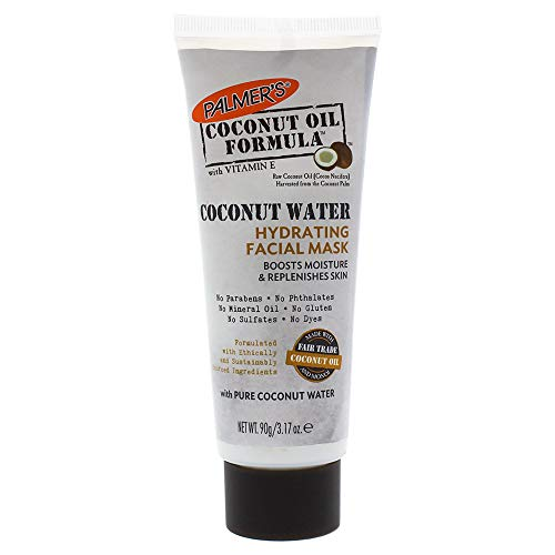 Palmer's Coconut Oil Formula, Coconut Water Hydrating Facial Mask | Boosts Moisture & Replenishes Skin | Squeeze Tube 3.17 oz.