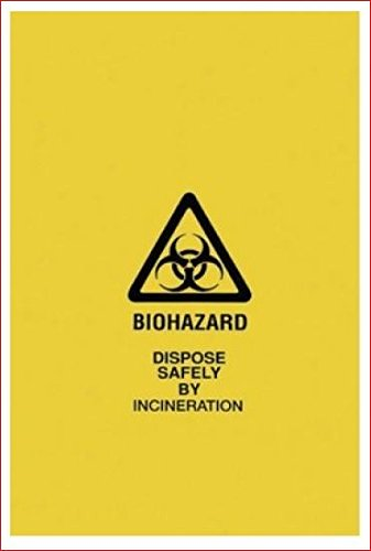 Yellow Biohazard Waste Bags 43 x 49 x 1.3 mil 100/cs