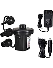 Air Pump Electric Portable Inflator for Inflatable Mattress Pool Boat Raft Swimming Ring Sofa Toy Kayak 100-240V AC/DC 12V with 3 Nozzles