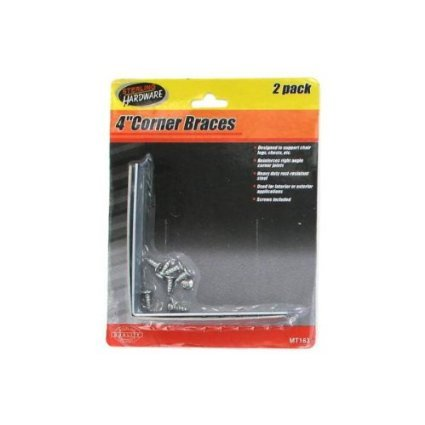 144 Packs of 2 Pack 4 inch corner brackets with eight screws by Sterling