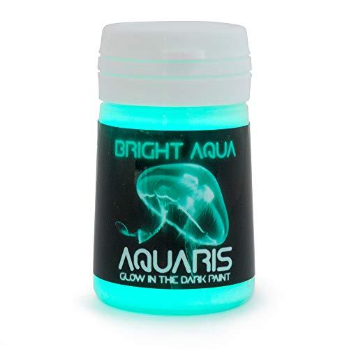 (SpaceBeams Glow in The Dark Paint, Aquaris 0.68 fl oz (20ml), Bright Aqua Color (Light)