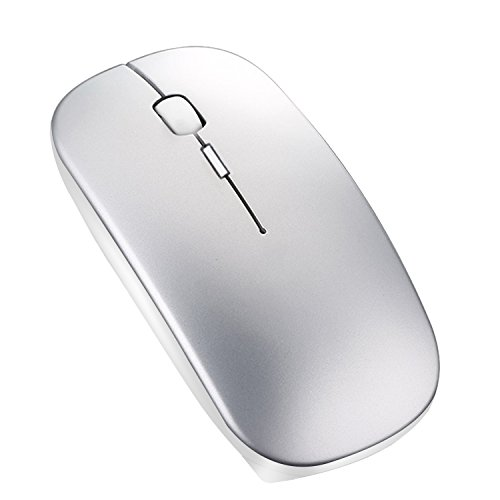 Nano Cordless Laser Mouse (Portable Rechargeable Wireless Bluetooth Mouse - Azmall Mini Laser Gaming Mouse Mute Type Wireless Optical Mice Ergonomic Mouse For Macbook,Notebook,Laptop,PC,Tablet - Space Gray)