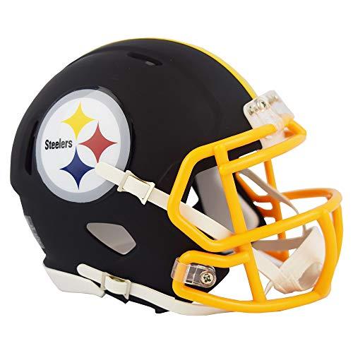 Pittsburgh Steelers NFL Black Matte Alternate Speed Mini Football Helmet