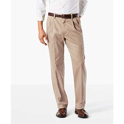 Dockers Men's Classic Fit Easy Khaki Pants - Pleated D3, Timber Wolf (Stretch), 34 29 from Dockers