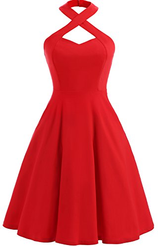 asos 40s tea dress with high neck - 3