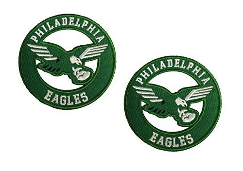 - Philadelphia Eagles Vintage Embroidered Iron on Logo Patches 3x3