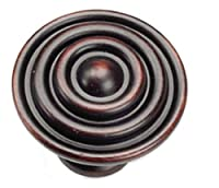 Laurey 23066 Cabinet Hardware 1-1/2-Inch Target Knob, Oil Rubbed Bronze