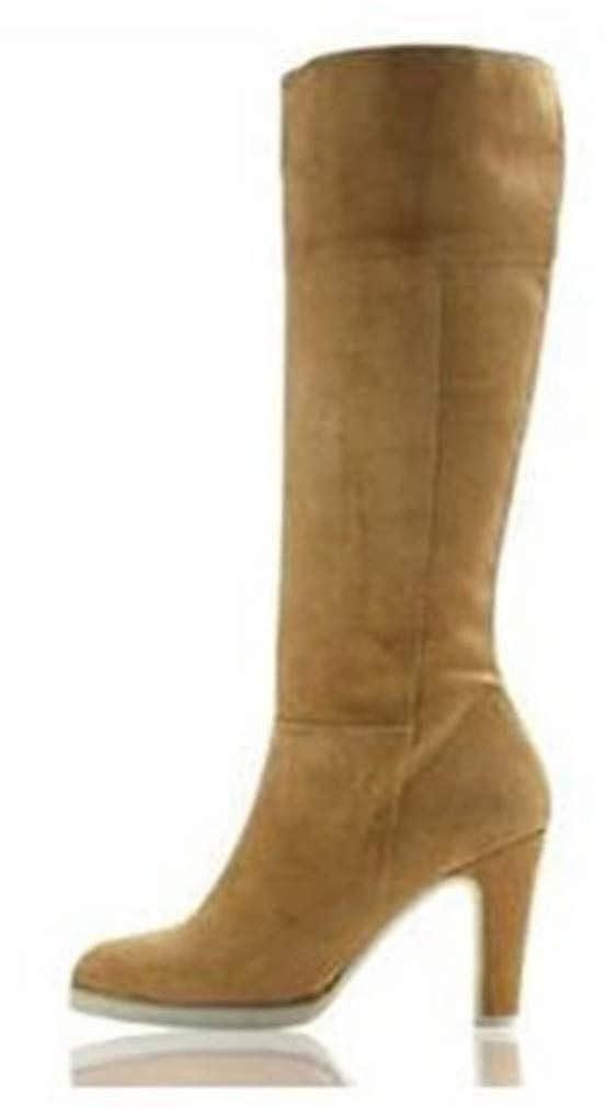 Stiefel Stiefel Stiefel von Apart aus Veloursleder in Beige f5ef5b