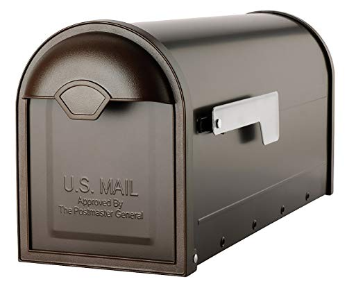 (Architectural Mailboxes 8830RZ-10 Winston Post Mount Mailbox Rubbed Bronze Rubbed Bronze (Renewed) )