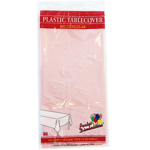 Pink Paper Tablecloths - Party Dimensions Rectangle Tablecover, 54 by 108-Inch, Pink