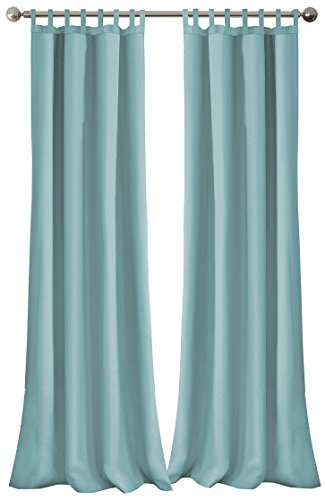 Elrene Home Fashions Indoor/Outdoor Solid Tab Top Single Panel Window Curtain Drape, 52