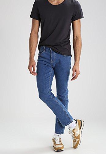 YOURTURN Herren Jeans Hose Denim in Blau - Jeanshosen Straight Leg mit Baumwolle & Stretch, 32x32
