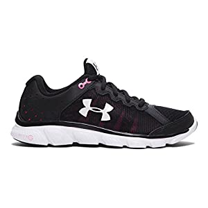 Under Armour Women's Micro G Assert 6, Black/Harmony Red/White, 8.5 B(M) US
