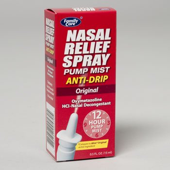 NASAL SPRAY PUMP MIST .5 OZ ANTI DRIP ORIGINAL, Case