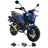 X-Pro 125cc Vader Gas Motorcycle Dirt Bike Street Bike with Gloves, Goggle and Handgrip (Black)