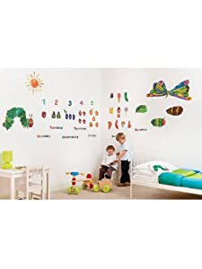 Superb The Very Hungry Caterpillar Room Decor Kit   49 Giant Wall Stickers Part 26