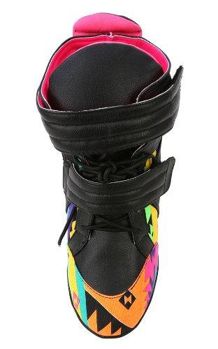 Sneaker Con Cinturino In Pizzo Azzeccato Aztec Elettrico Privilegiato Nero, 6,5 M Us
