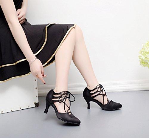 Minitoo - De salón mujer Black-7.5cm Heel