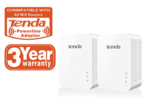 Tenda PH3 Adaptador de Red Gigabit Powerline (1000Mbps, Puerto Gigabit, Ahorro de energía, Plug & Play, Compatible con Otros adaptadores...