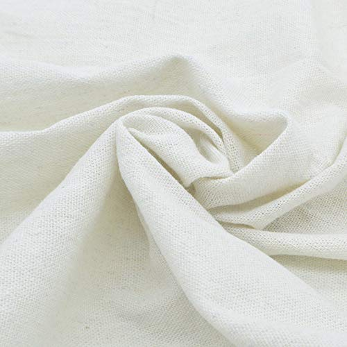 iNee Natural Linen Fabric for Needle Embroidery, Embroidery Fabric Linen 20 x 62 inches, (Ivory)