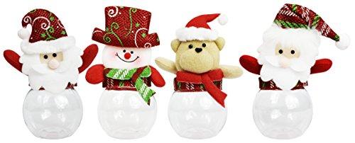 Set of 4 Christmas Treat Jars! 2.75
