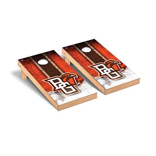 Victory Tailgate Regulation Collegiate NCAA Vintage Series Cornhole Board Set - 2 Boards, 8 Bags - Bowling Green State (Best Victory Tailgate Bowling Bags)