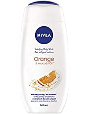 NIVEA Care & Orange Body Wash (500mL), Body Wash for All Skin Types, For Use as Body and Hand Soap, Liquid Soap with Orange Blossom Scent & Bamboo Milk
