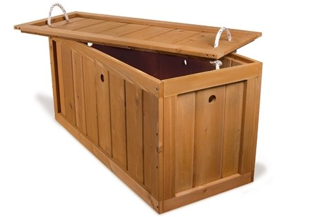 Wooden Toy Chest - Amber Stained Cedar
